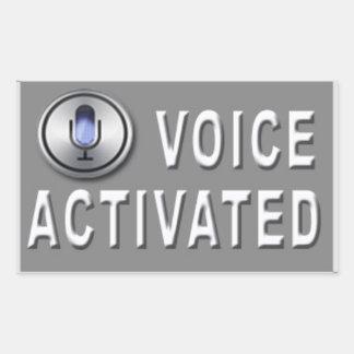 Etiqueta ativada voz da brincadeira (4 blocos)