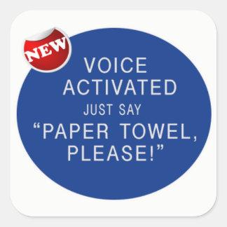 Etiqueta ativada voz da brincadeira do dryerl da