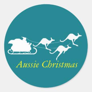 Etiqueta australiana do Natal para baixo sob