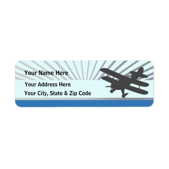 Etiqueta Avião do biplano