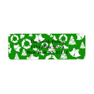 Etiqueta Azevinho Bels da grinalda das árvores de Natal