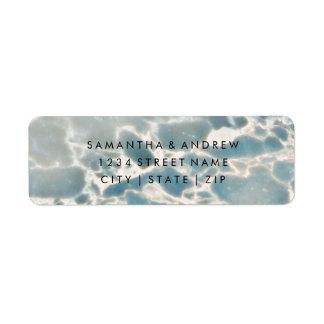 Etiqueta Azuis de oceano de vidro do mar da praia que