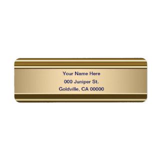 Etiqueta Azuis marinhos no olhar brilhante do ouro