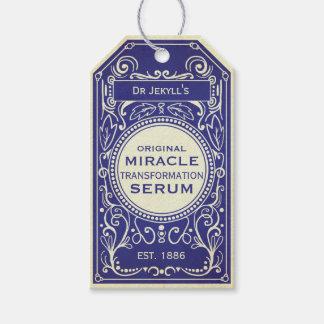 Etiqueta Para Presente Etiqueta azul da poção do vintage do Dr. Jekyll
