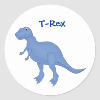 Etiqueta azul do dinossauro adesivo