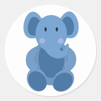 Etiqueta azul do elefante