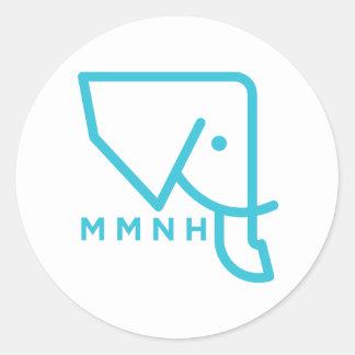 Etiqueta azul do elefante de MMNH