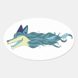 Etiqueta azul viva do Fox descontroladamente