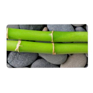 Etiqueta Bambu e seixo