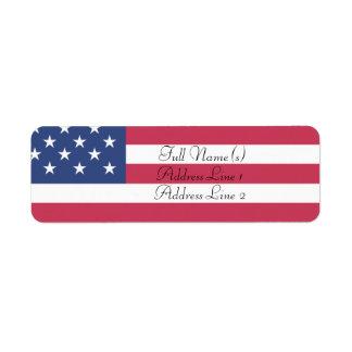 Etiqueta Bandeira americana