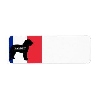 Etiqueta bandeira conhecida de France do silo do barbet