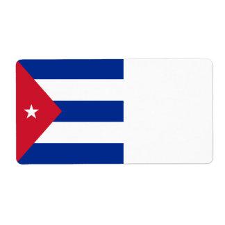 Etiqueta Bandeira de Cuba
