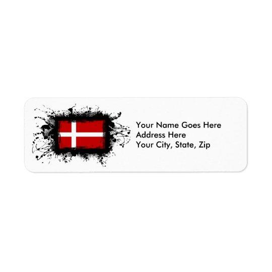 Etiqueta Bandeira de Dinamarca