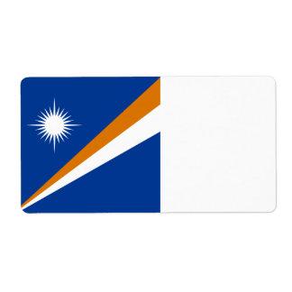 Etiqueta Bandeira de Marshall Islands