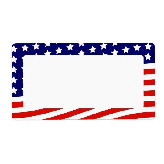 Etiqueta Bandeira dos Estados Unidos bandeira americana o 4
