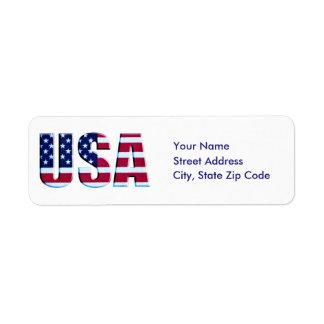 Etiqueta Bandeira patriótica feita sob encomenda EUA