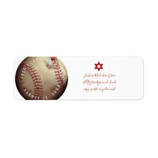 Etiqueta Bar Mitzvah do basebol de PixDezines do ✡