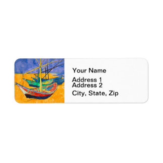 Etiqueta Barcos do impressionista de Van Gogh