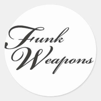 Etiqueta básica do logotipo das armas do funk adesivo