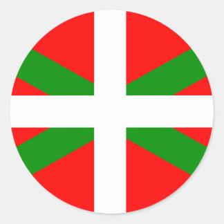 Etiqueta Basque da bandeira de Ikurrina