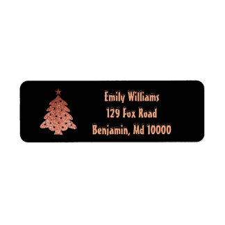 Etiqueta Beleza da árvore de Natal