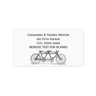 Etiqueta Bicicleta do vintage construída para