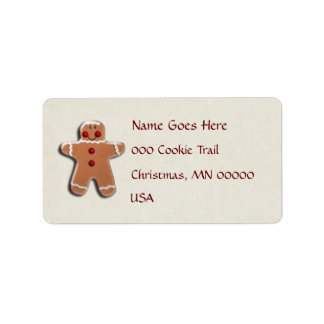 Etiqueta Biscoito do homem de pão-de-espécie