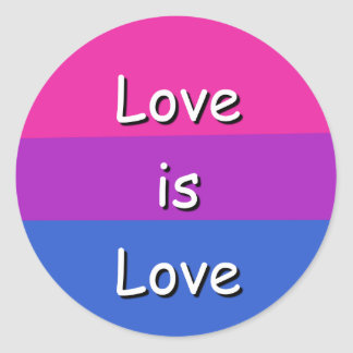 Etiqueta bissexual do orgulho da consciência do