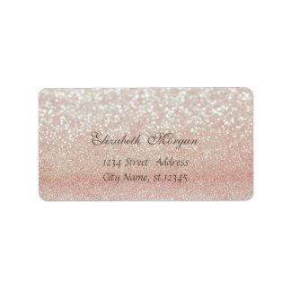 Etiqueta Bokeh Glittery chique glamoroso elegante