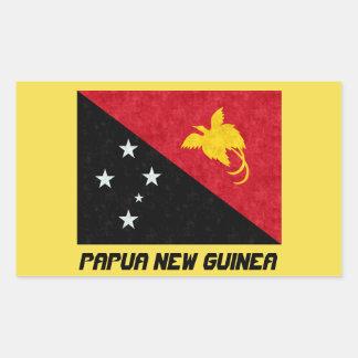 Etiqueta bonita da bandeira de Papuá-Nova Guiné