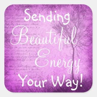 Etiqueta bonita da energia das citações inspiradas