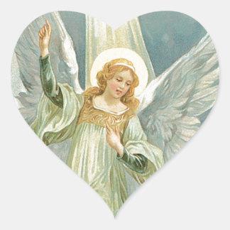 Etiqueta bonita do anjo-da-guarda