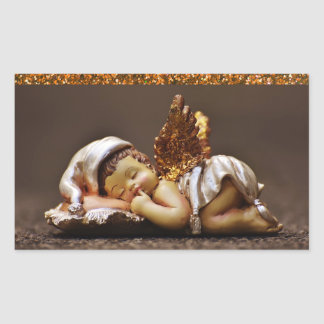 Etiqueta bonita do anjo do sono