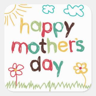 Etiqueta bonita do dia das mães