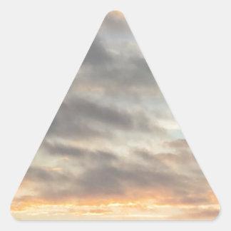 Etiqueta bonita do por do sol