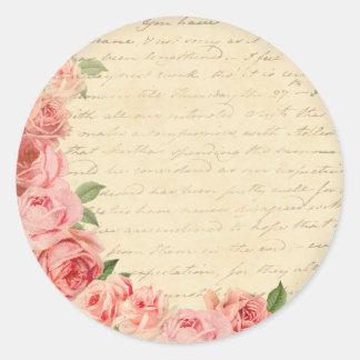 Etiqueta bonita e feminino do rosa do rosa do