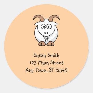 Etiqueta bonito da cabra