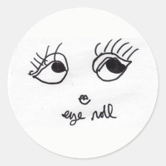 Etiqueta bonito da menina do rolo do olho