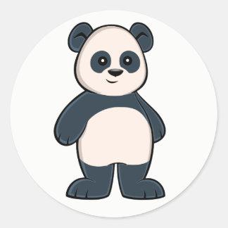 Etiqueta bonito da panda dos desenhos animados