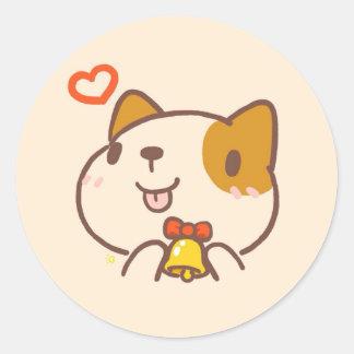 Etiqueta bonito do cão de Kawaii Inu
