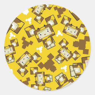 Etiqueta bonito do girafa de Blockimals dos