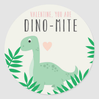 Etiqueta bonito dos namorados do dinossauro