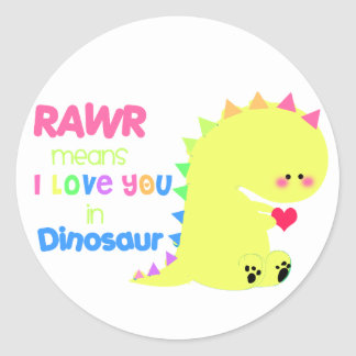 Etiqueta bonito RAWR do dinossauro Adesivo