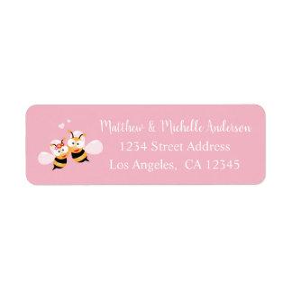 Etiqueta Bonito significado ao endereço cor-de-rosa
