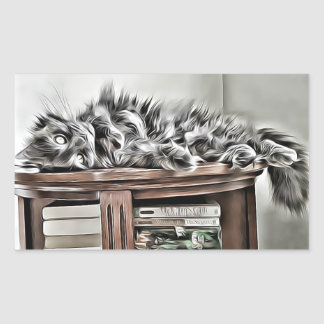 Etiqueta bookish do gato macio
