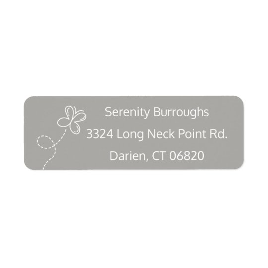 Etiqueta Borboleta cinzenta & branca personalizada