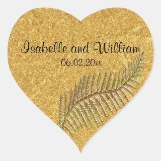 Etiqueta botânica boémia HeartShaped do casamento