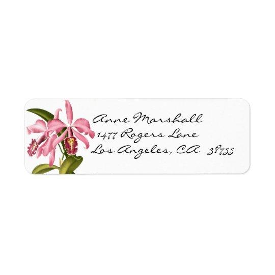 Etiqueta botânica de Avery das orquídeas do Etiqueta Endereço De Retorno