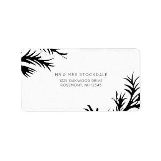 Etiqueta botânica do retorno do casamento