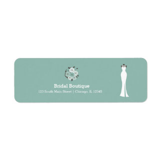 Etiqueta Boutique nupcial - escolha sua cor do fundo